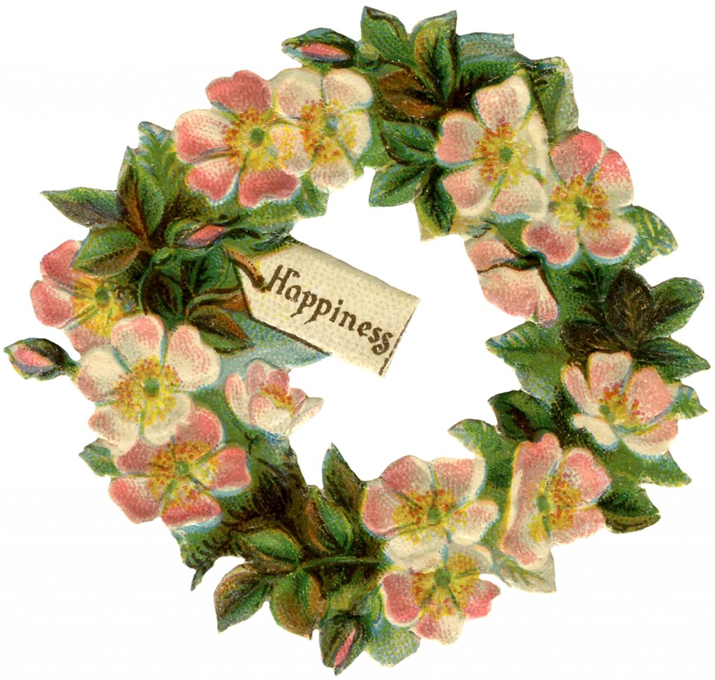 vintage wild rose floral wreath image   the graphics fairy