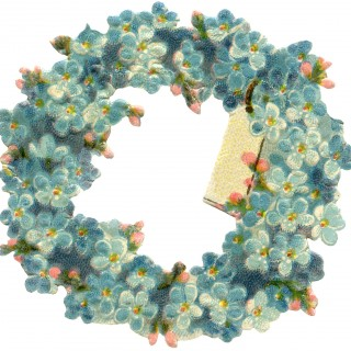 Vintage Floral Wreath Image