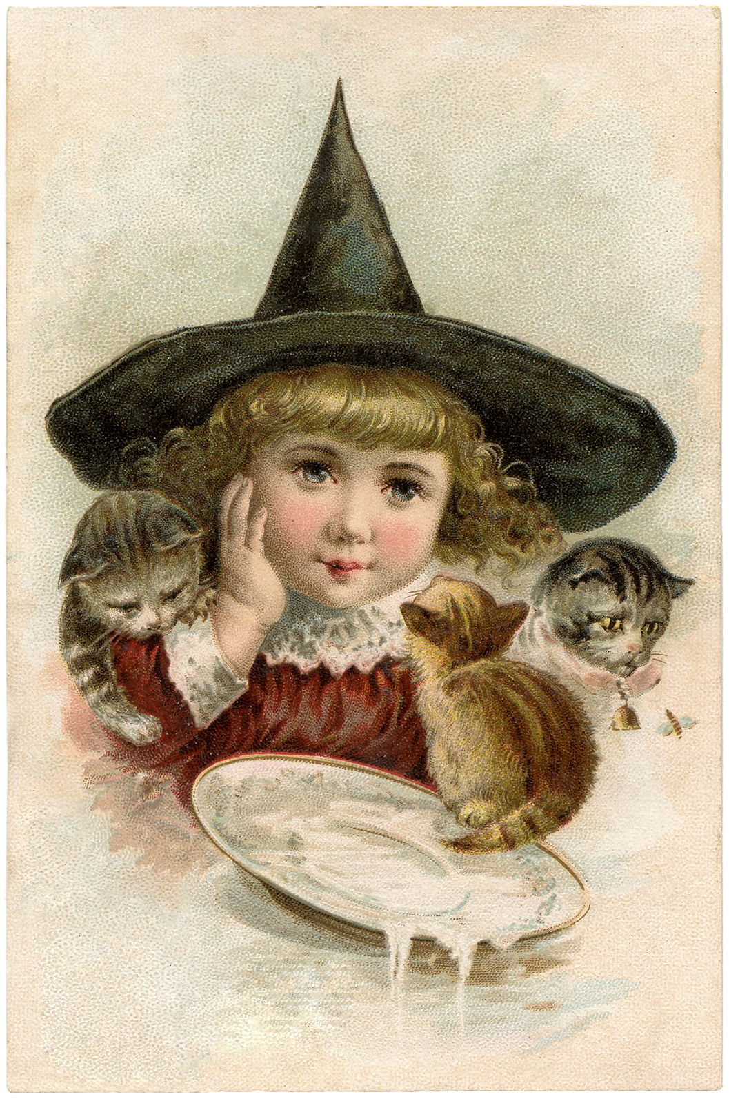 Vintage Halloween Clip Art - Precious Little Witch - The ...