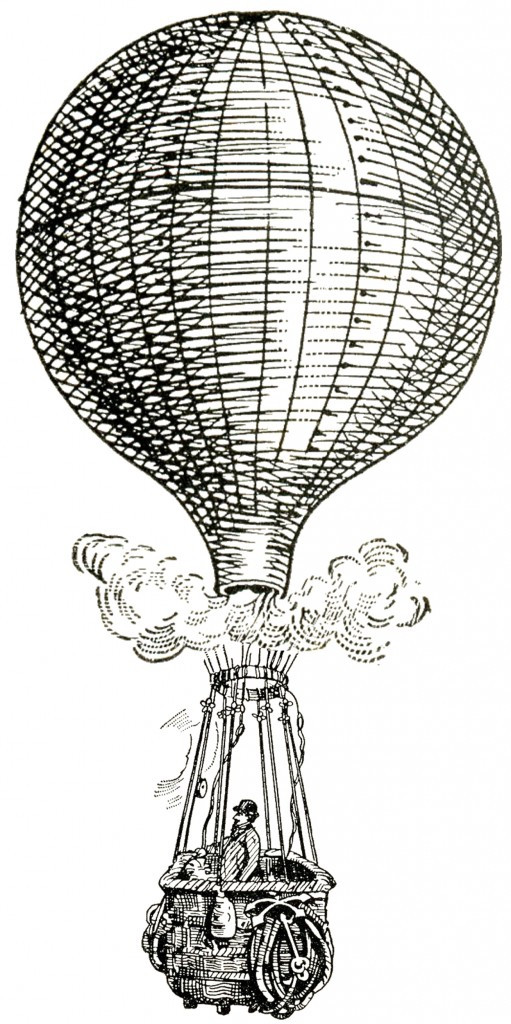 Vintage Images Steampunk Balloons