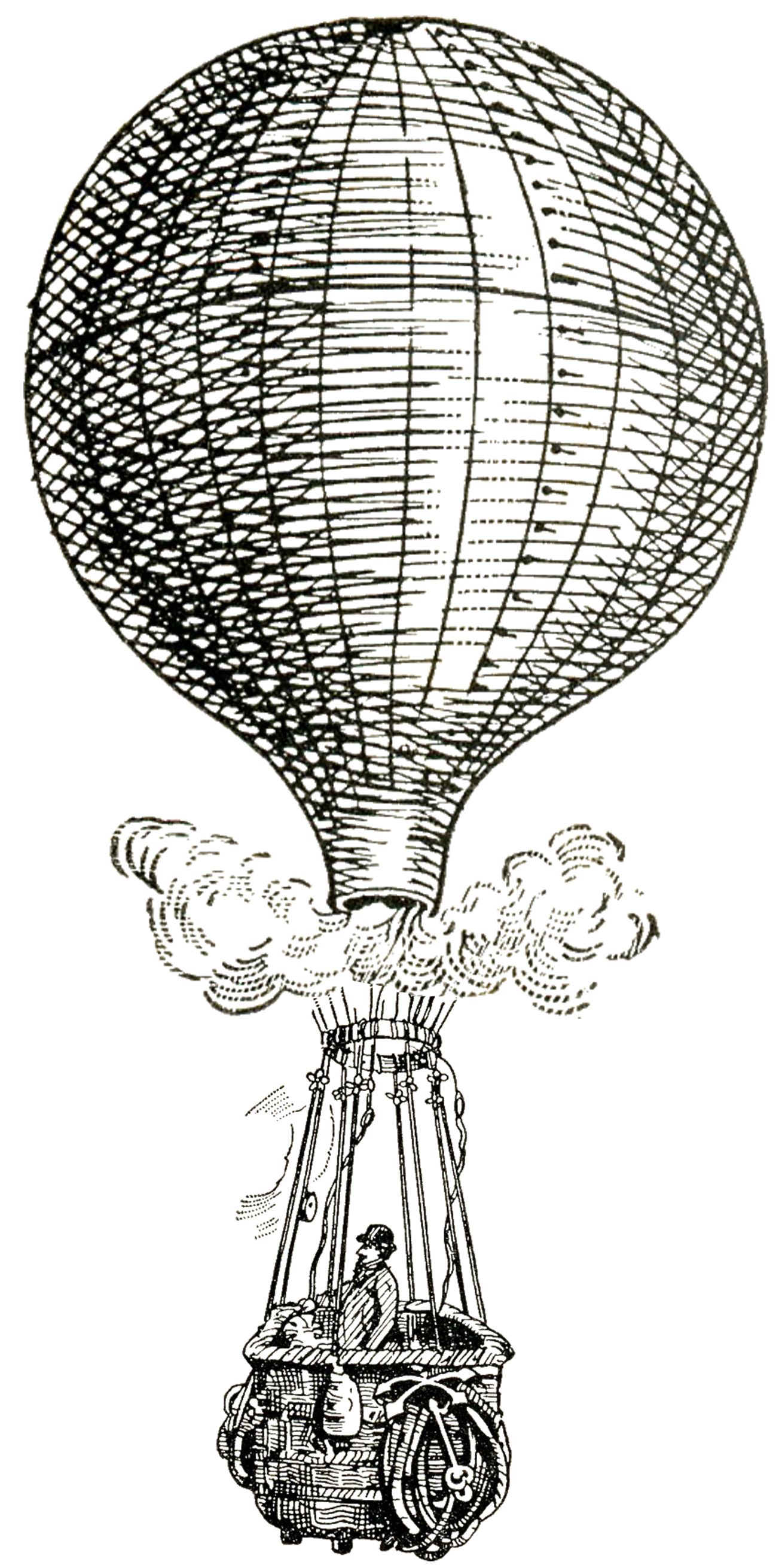 Vintage Images - Hot Air Balloons - Steampunk - The ...
