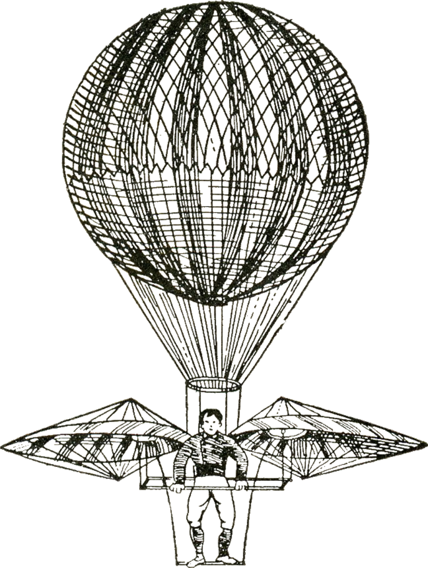 Vintage Images - Hot Air Balloons Steampunk