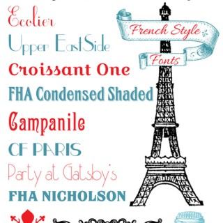 French Fonts
