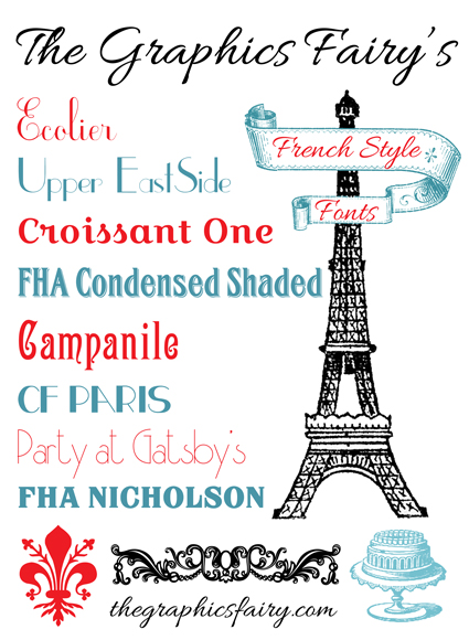 best free french fonts the graphics fairy Flour De Lis Flour De Lis