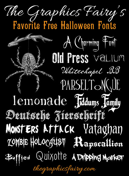 frightfully good free halloween fonts the graphics fairy - Good Halloween Font