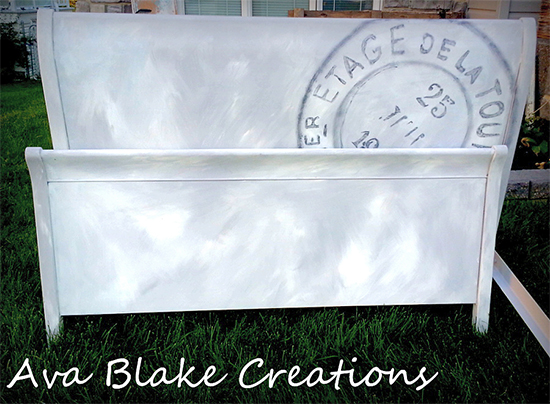 DIY Painted Vintage Sleigh Bed