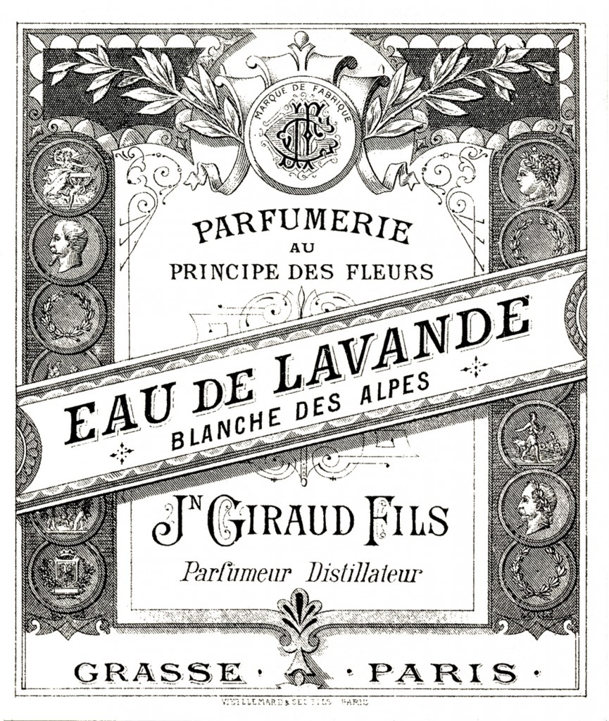 Antique Perfume Label Image