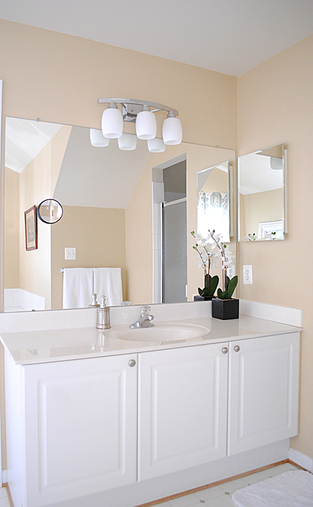 Best Paint Colors Master Bathroom Reveal The Graphics Fairy - Pictures of bathroom paint colors