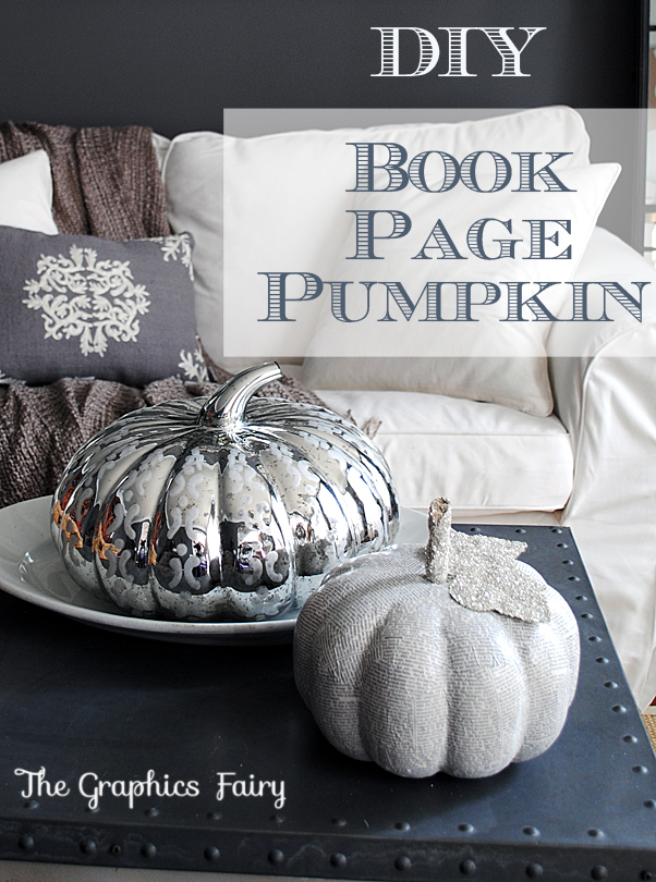 Make Book Page Pumpkins