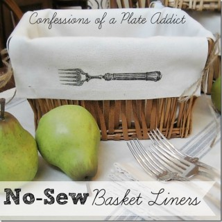 Brag Monday – No Sew Basket Liners & Halloween Candle