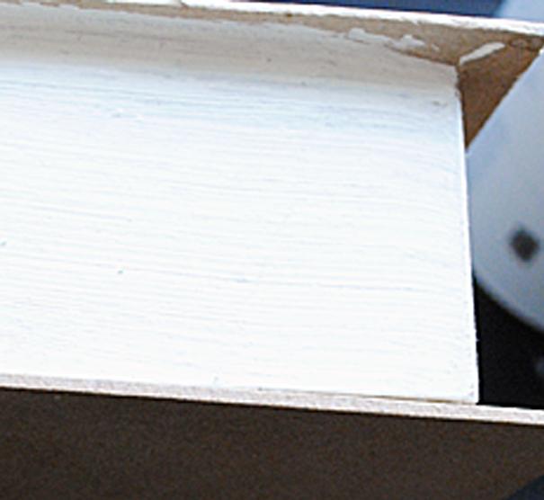 DIY Burlap Box Painted