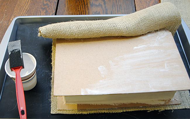 Make a Burlap Storage Box