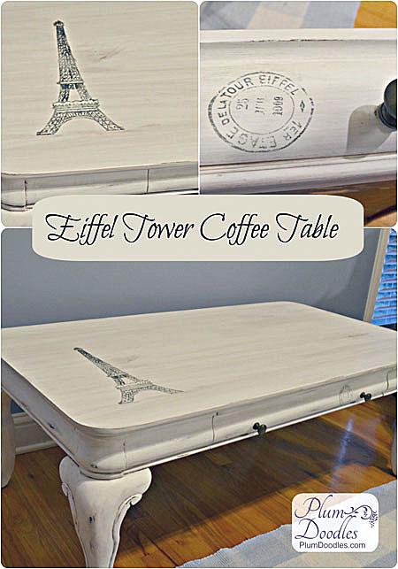 DIY Eiffel Tower Coffee Table