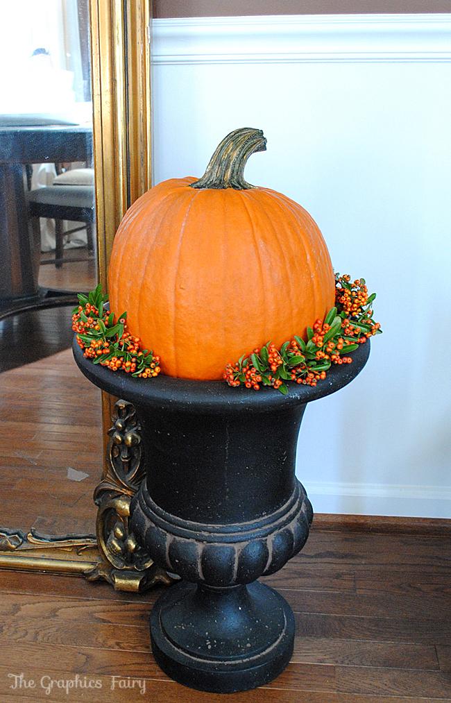 Pumpkin in Urn