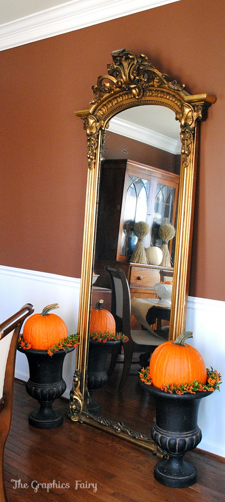 Fall Home Tour Gold Mirror