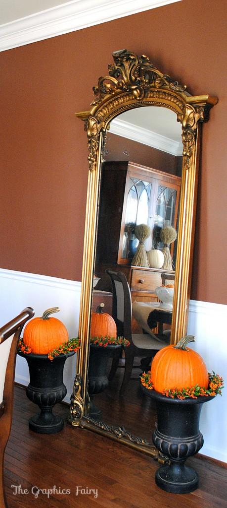 Fall Home Tour Gold Mirror