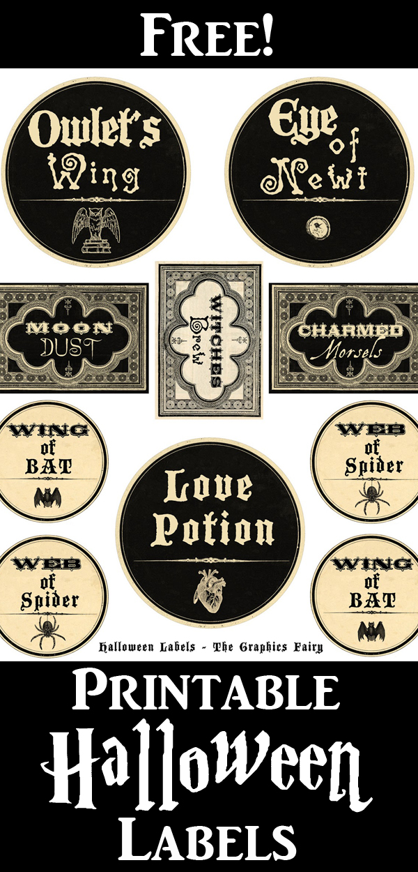 Halloween Potion Labels