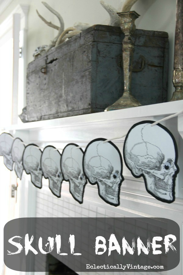 Halloween Skull Craft Banner - free printable!