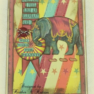 Brag Monday – Handmade Circus Card & Decoupage Box