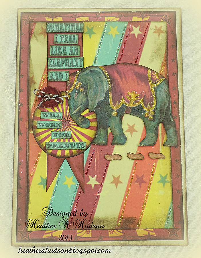 Handmade Circus Card