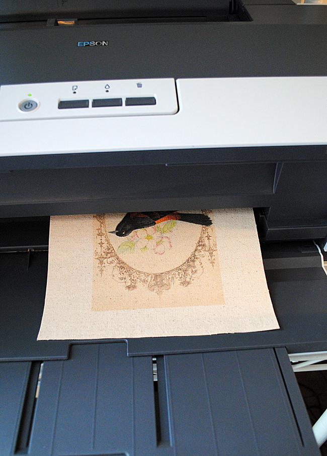 How To Print On Fabric Freezer Paper Method The Graphics Fairy