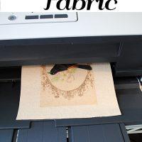 How to Print on Fabric Freezer Paper Method
