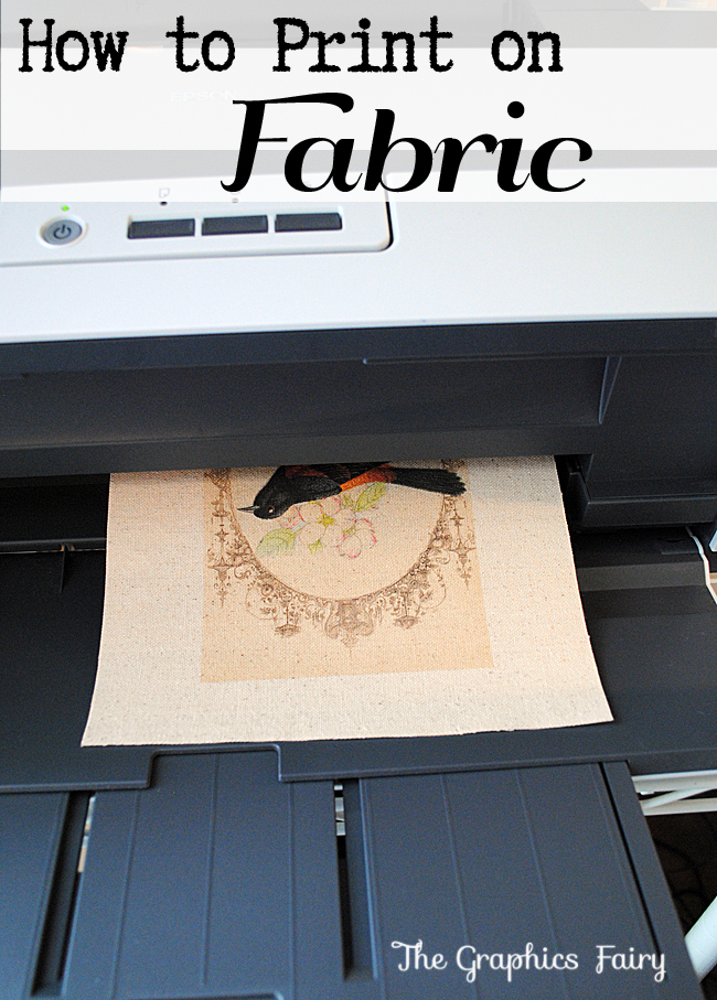 How to Print on Fabric Wax Paper Method