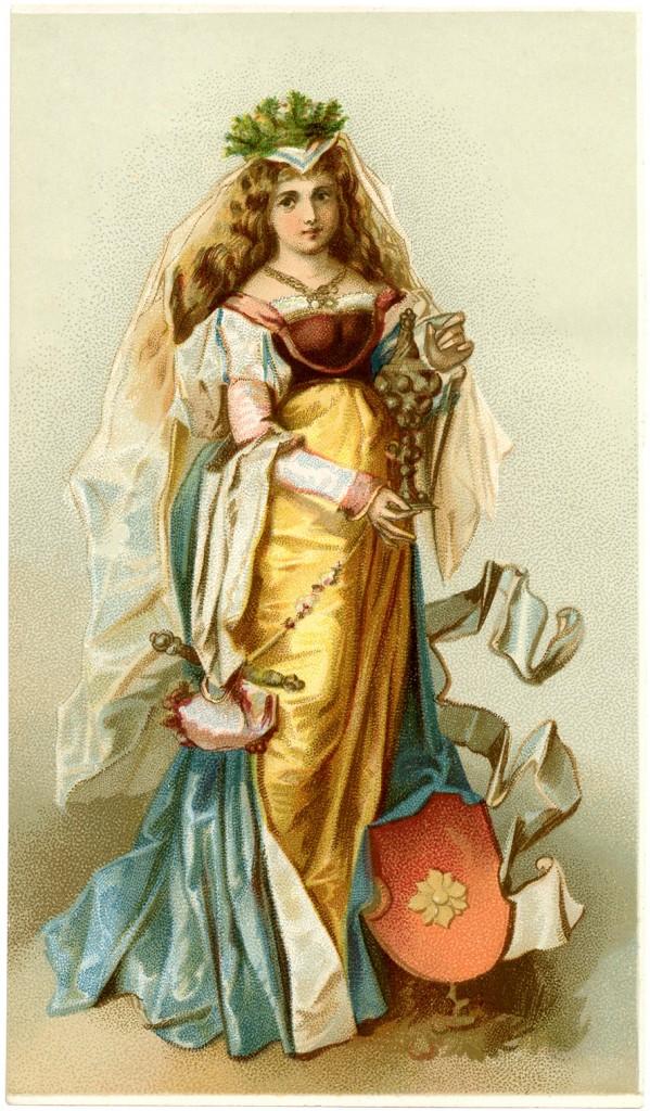 Medieval Lady Image