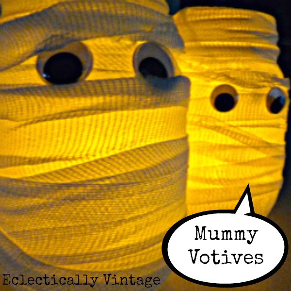 Mummy Votives at eclecticallyvintage.com