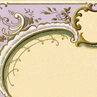 Amazing Ornate French Frame Image – Lilac