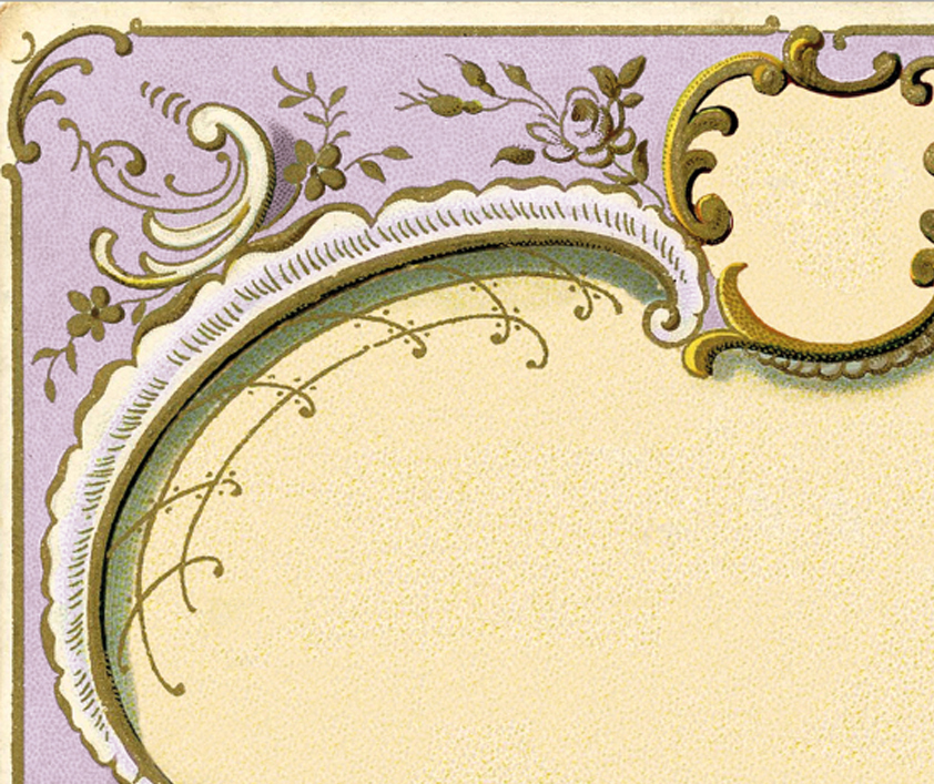 Amazing Ornate French Frame Image Lilac The Graphics Fairy