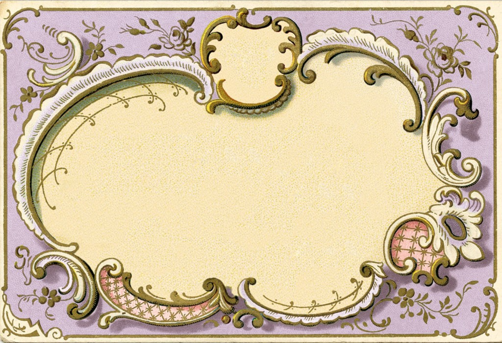 Ornate French Frame Image Lilac