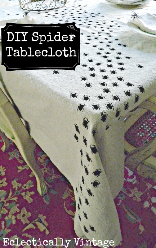 Spider Tablecloth at eclecticallyvintage.com