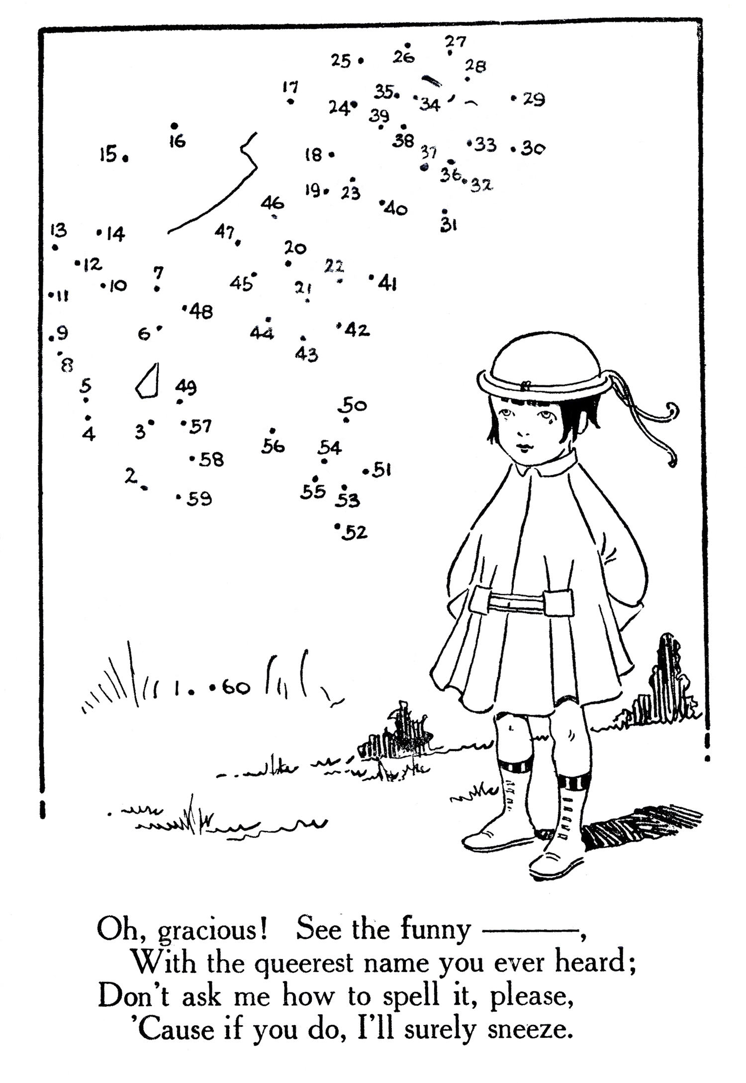 Printable Connect the Dots Flapper Girl The Graphics Fairy