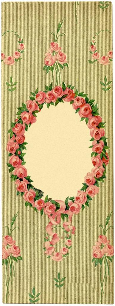 Floral Frame Image Roses