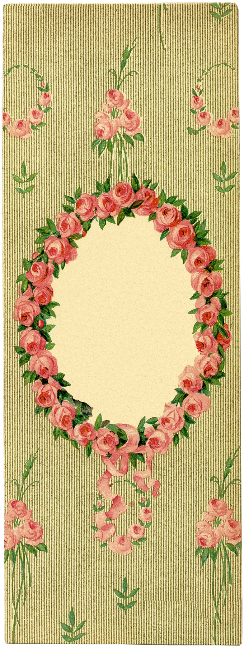 romantic lady with floral frame images the graphics fairy