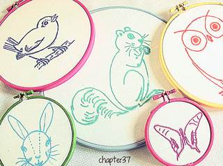Sharpie Cross Stitch Art In Embroidery Hoop Frames01
