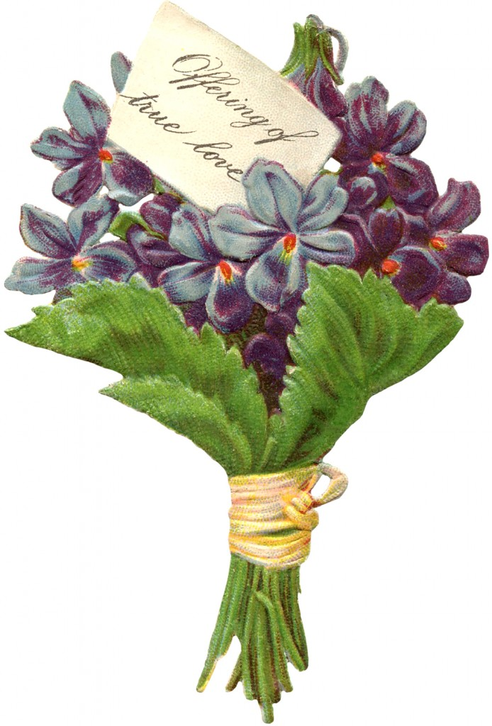 Free Victorian Image Violets
