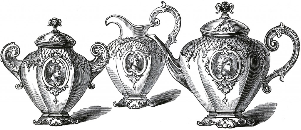 Free Public Domain Tea Set Images