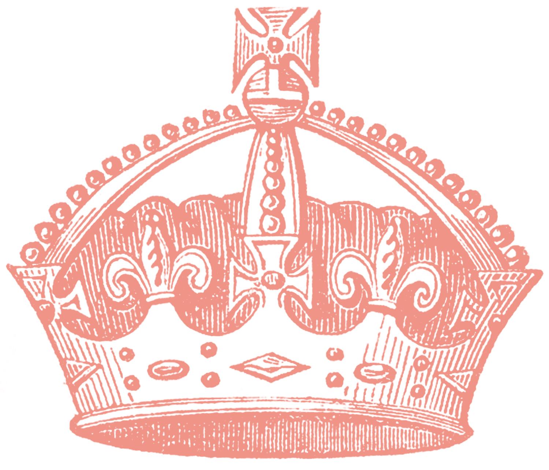 vintage crown images 4 options the graphics fairy rh thegraphicsfairy com pink flower crown clip art Blue Crown Clip Art