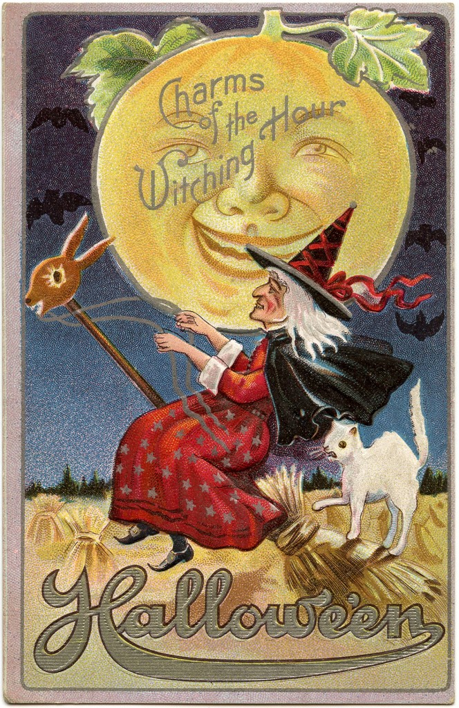 Vintage Halloween Witch Image