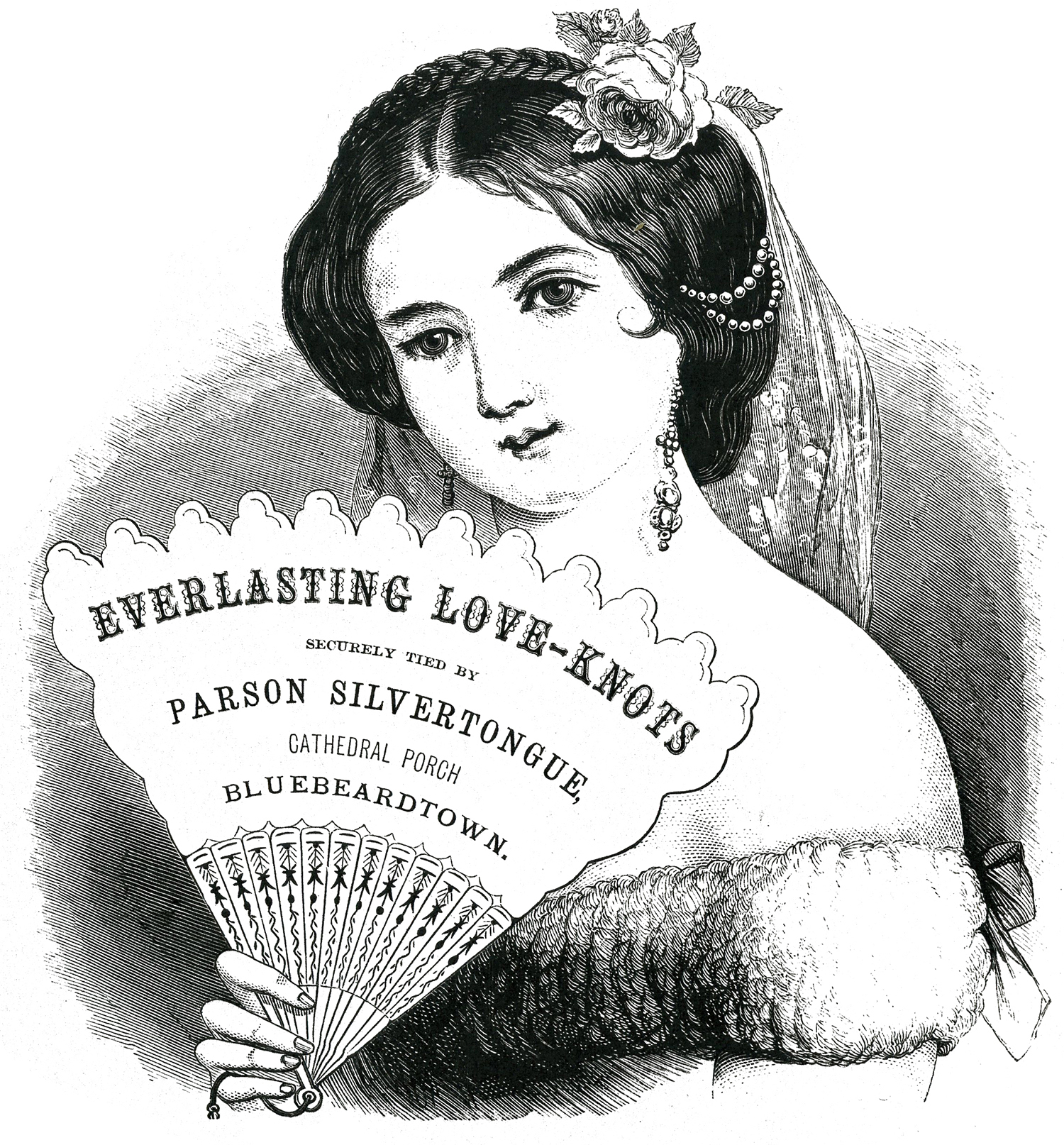 Free Vintage Label Images - Stunning Lady with Fan - The ...