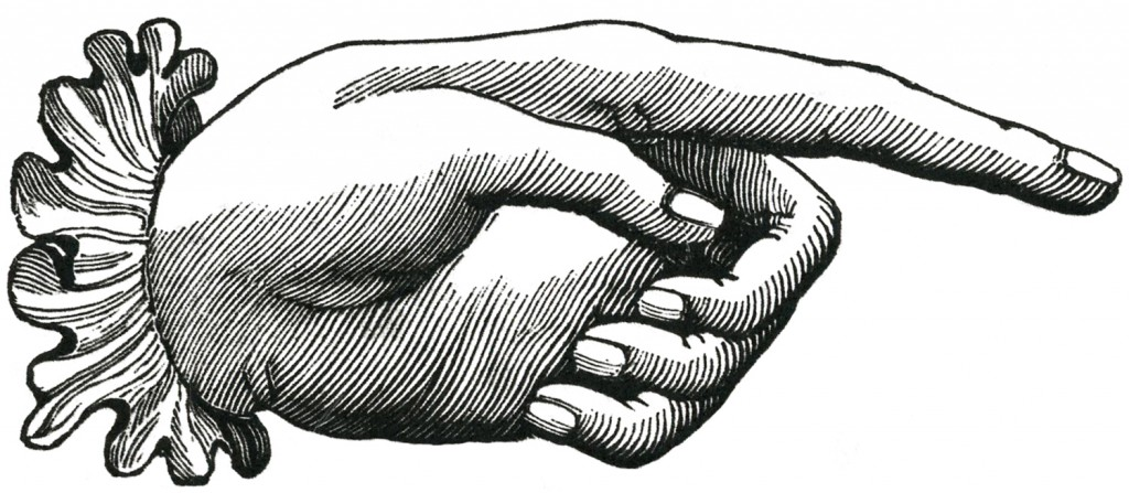 Vintage Pointing Hand Image