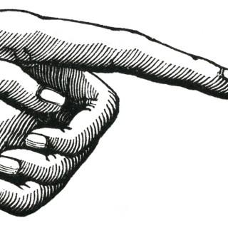 Vintage Pointing Hand Image – Unusual