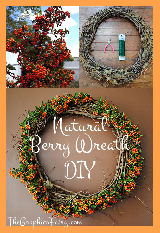 DIY a Natural Berry Wreath - Fabulous Fall // The Graphics Fairy