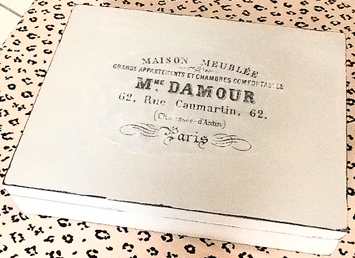 Painted Box With French Typography