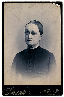 Antique Photo Woman with Spectacles