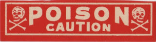Vintage Poison Label