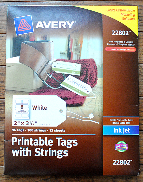 Avery Printable Tags