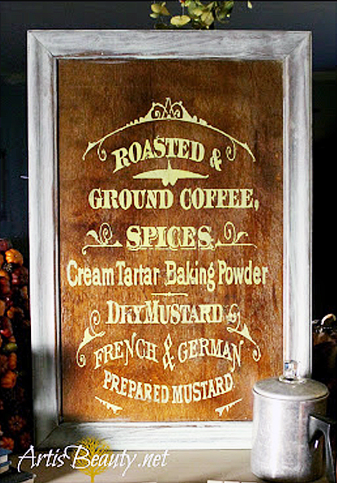 Painted Coffee Sign DIY